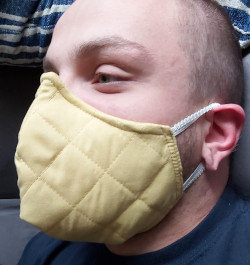If you need a metal re-enforced nose shape mask – Contact us ($9)