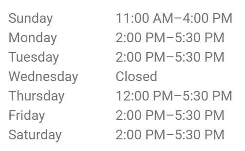 Re-opening Hours